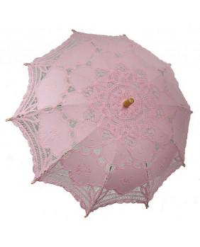 Ombrelles gothique dentelle rose