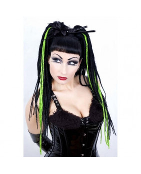 Rajout gothic Vicious dread green