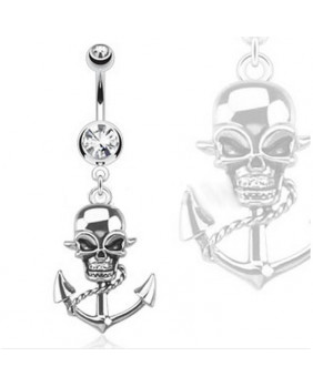 Piercing de nombril pirate