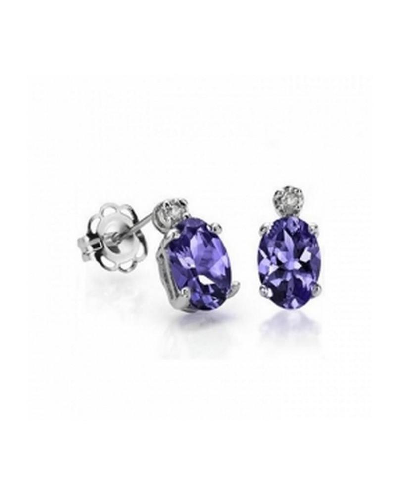 Boucles d'oreilles gothique avec iolite violette