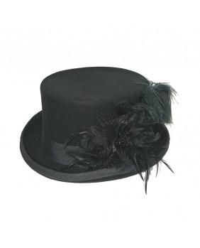 Chapeau goth romantique noir