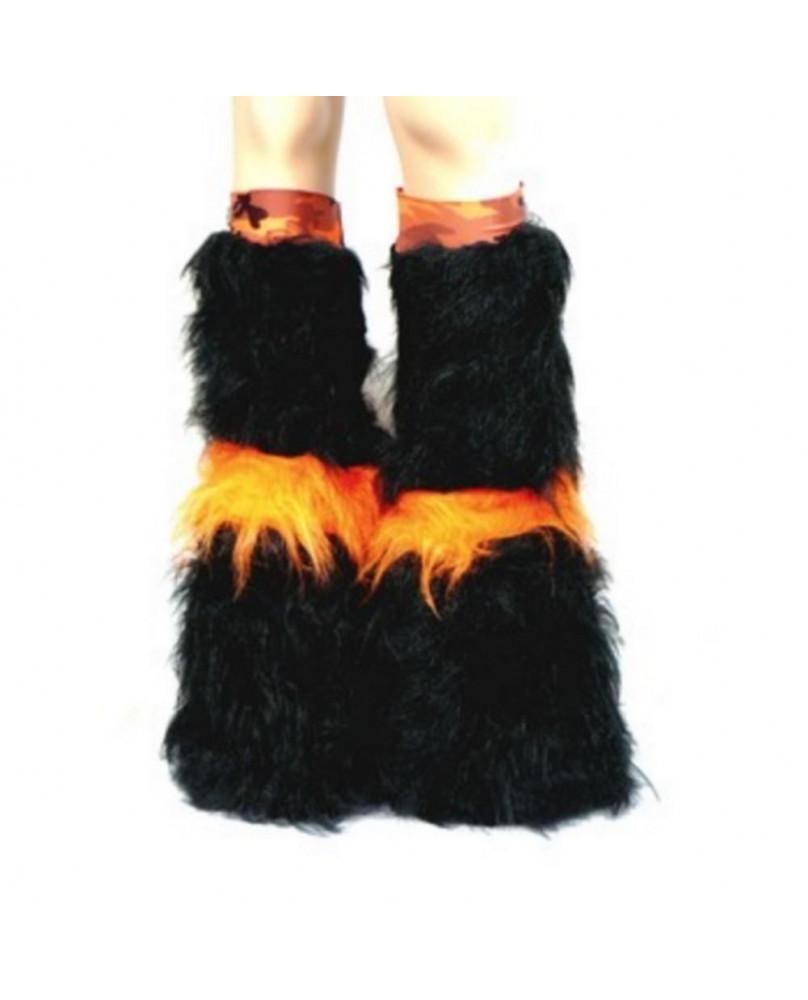 Leg warmers cyber gothique orange camo