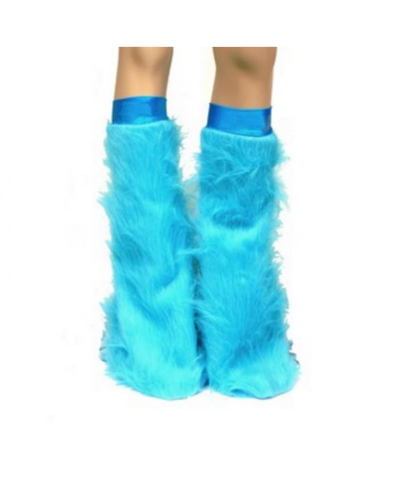 Leg warmers cyber gothique turquoise