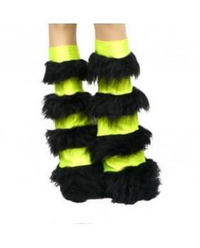 Leg warmers cybergoth jaune / noir