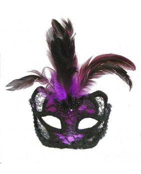 Masque gothique violet / noir