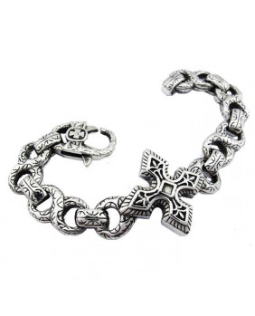 Bracelet gothic stainless steel