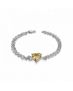 Bracelet pierre jaune