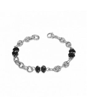 Bracelet pierres noires