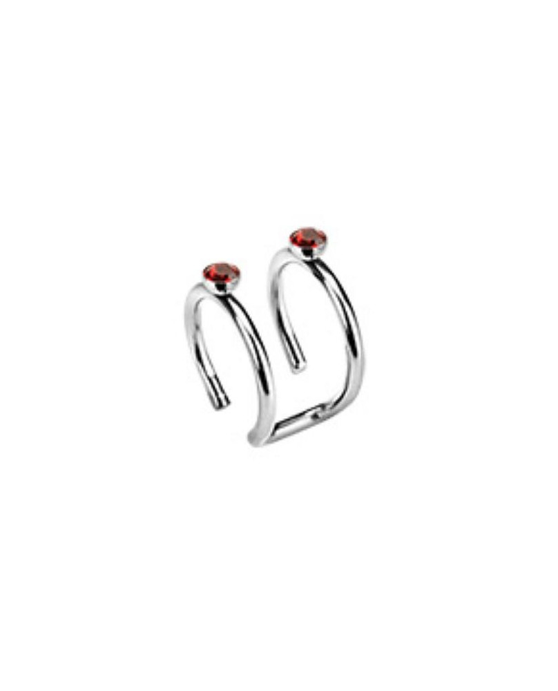 Bijoux d'oreille duo Red