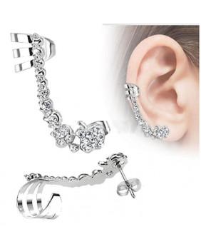 Bijoux d'oreille strass droit