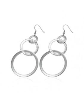 Boucles d'oreilles anneaux acier