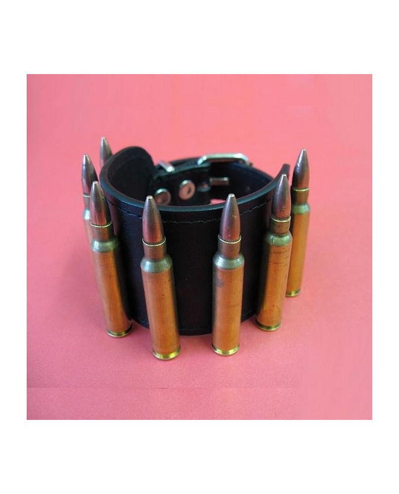 Bracelet cuir a balles GG119