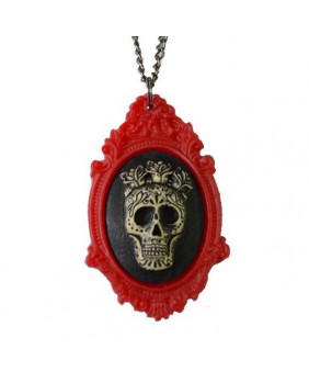 Camé Mexicaine skull Red