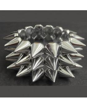 Bracelet élastique argenté