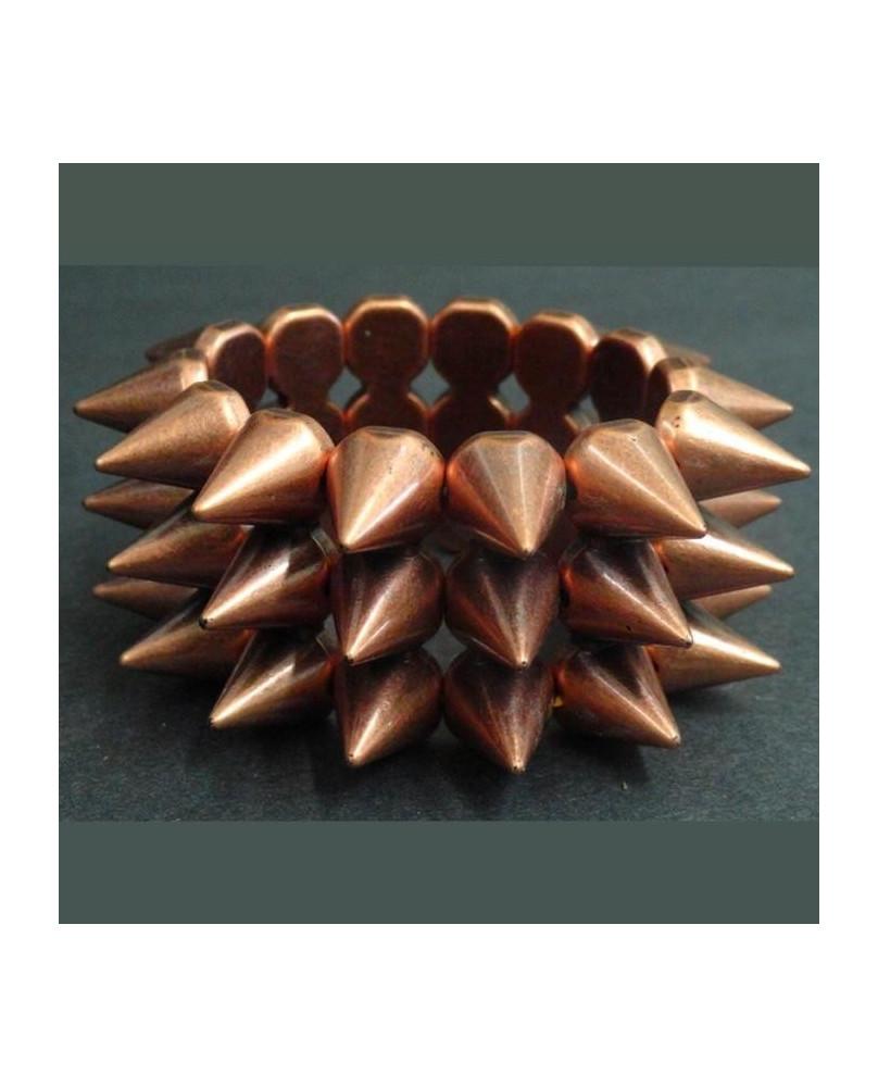 Bracelet élastique cuivré