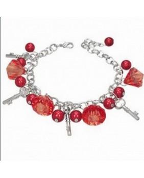 Bracelet fantaisie perles rouges