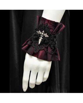 Bracelet gothique bordeaux Dague