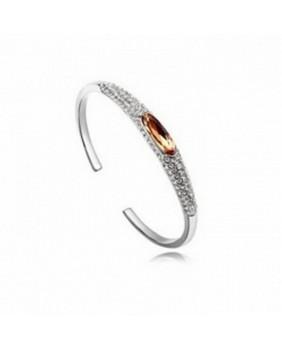 Bracelet plaqué or et pierre ambre