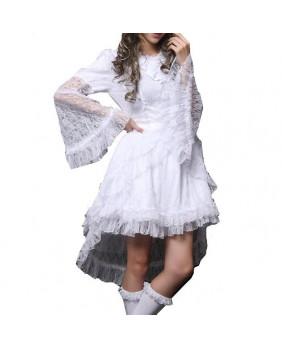 Robe gothique blanche Divine Lace