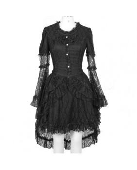 Robe gothique noir Divine Lace