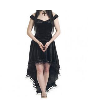 Robe sinister velours noir