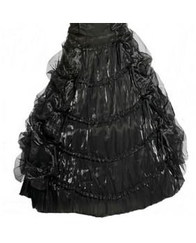 Jupe crinoline organza noir