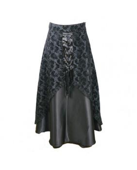 Jupe gothique brocard et satin noir