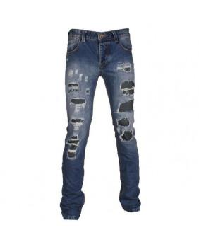 Jeans homme bleu troué