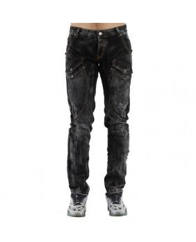 Jeans rock noir et gris