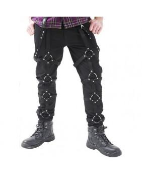 Pantalon noir à anneaux