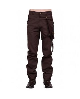 Pantalon steampunk marron