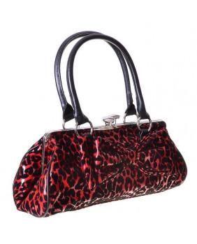 Sac goth léopard rouge