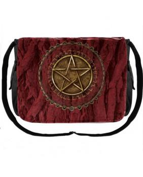 Sac bandoulière rouge Pentagramme