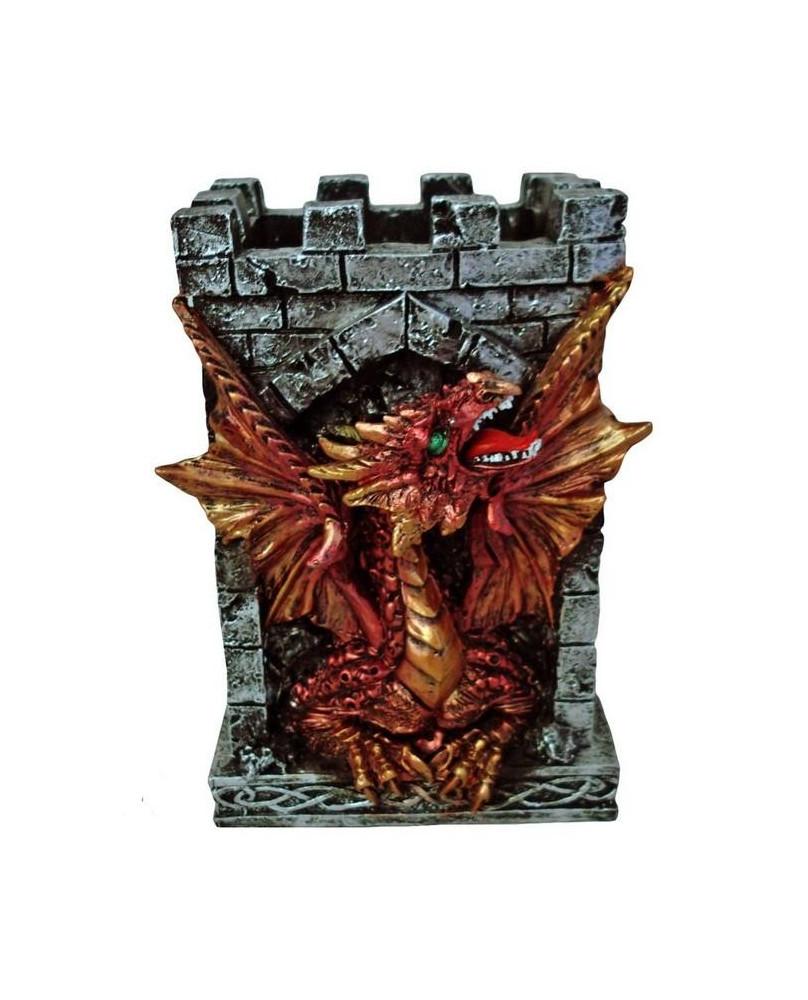 Dragon rouge gardien de crayons