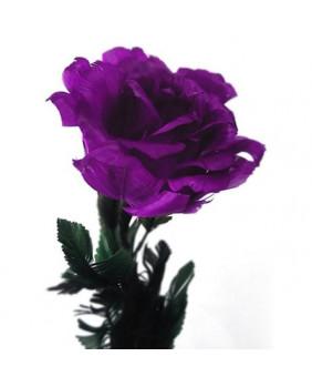 Rose gothique violette ouverte 37201