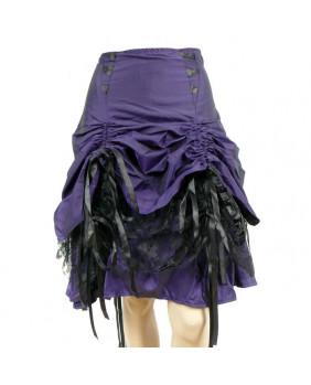 Jupe gothique violette Dita