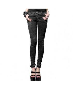 Pantalon jeans gris Punk Rave