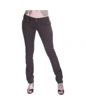 Pantalon rayures grises