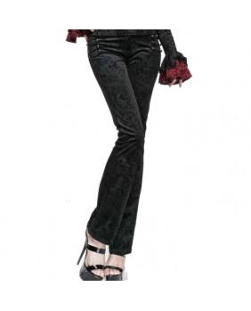 Pantalon velours victorien noir