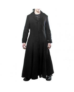 Manteau gothique long avec zip