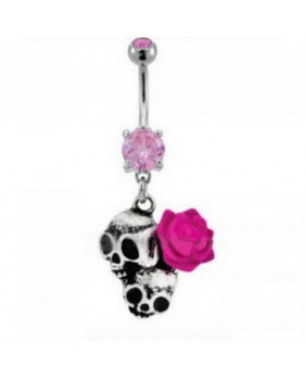 Piercing punk rock Skulls & rose
