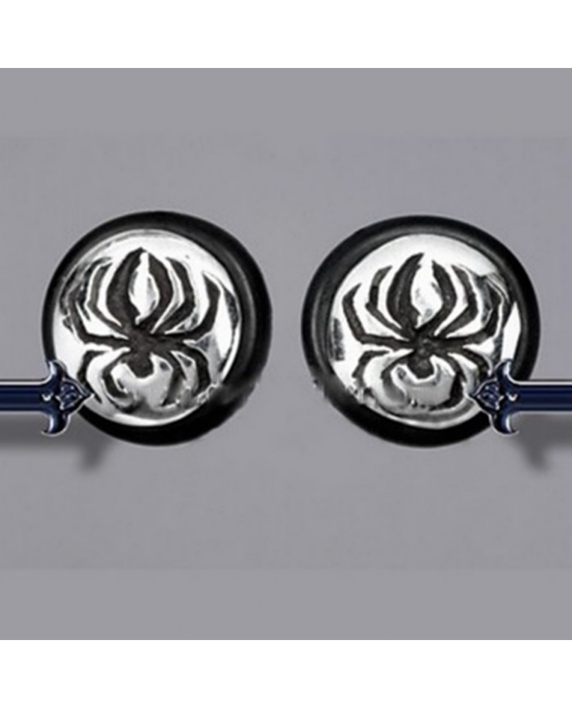 Boucle d'oreille goth spider GSE030