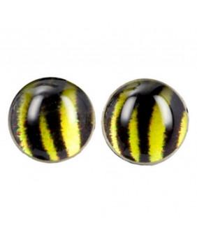 Boucle d'oreilles gothic zebra