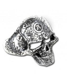 Bague gothique Omega Skull