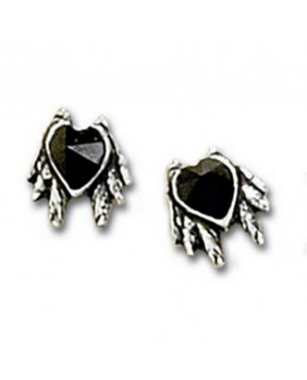 Boucles d'oreille Black Heart Studs