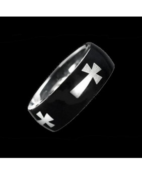 Bague gothique Black Cross