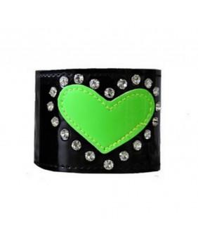 Bracelet cyber goth coeur vert