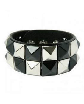"Bracelet rock "" check black-silver """