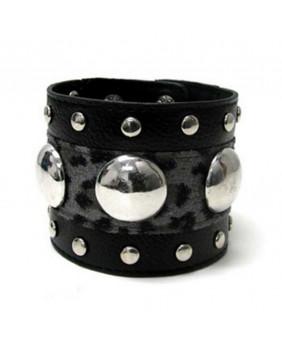 Bracelet punk rock fantaisie léopard