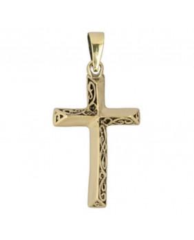 Pendentif croix en bronze